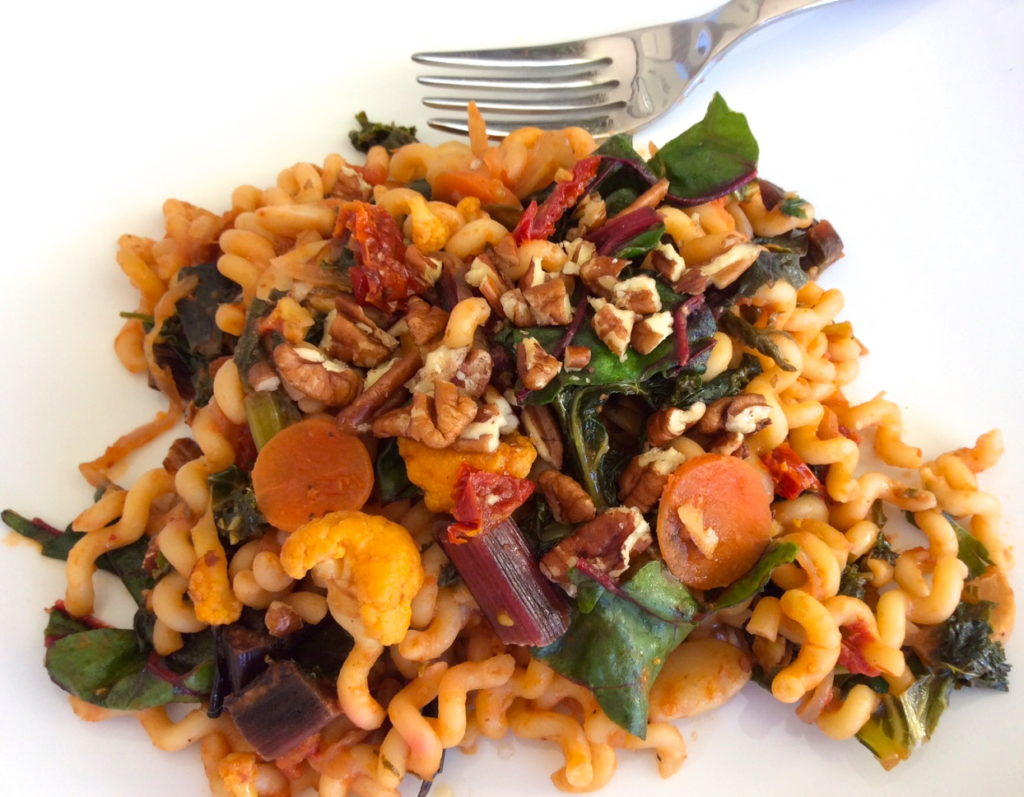 Garden Vegetable Pasta with Pecans Recipe