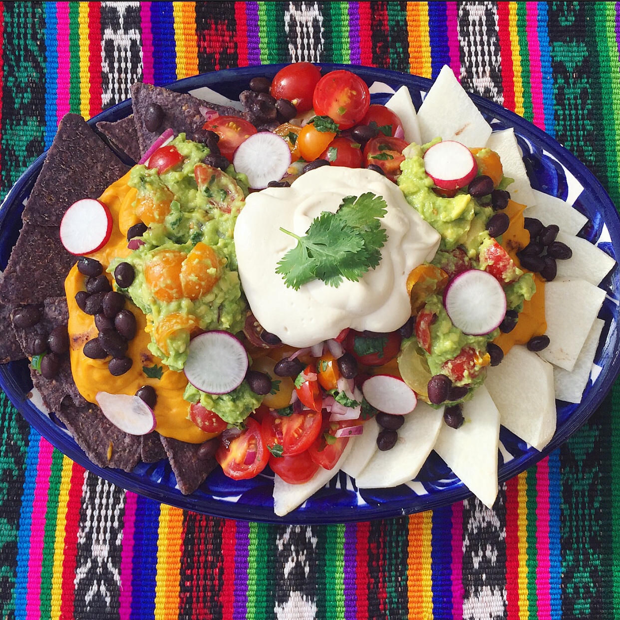 Super Nachos with Gooey Sweet Potato Cheese Sauce (Vegan)