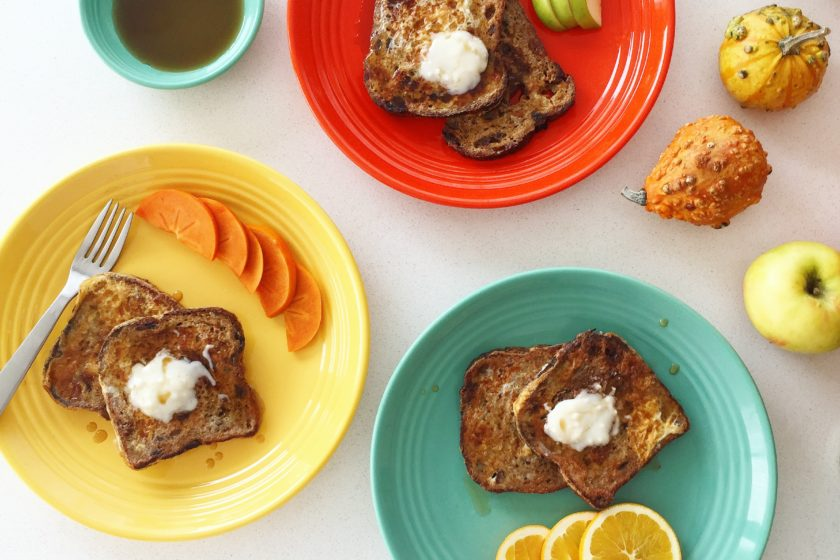 Pumpkin Spice French Toast with Coconut Butter