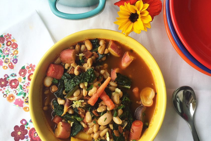 Spanish White Bean and Vegetable Stew