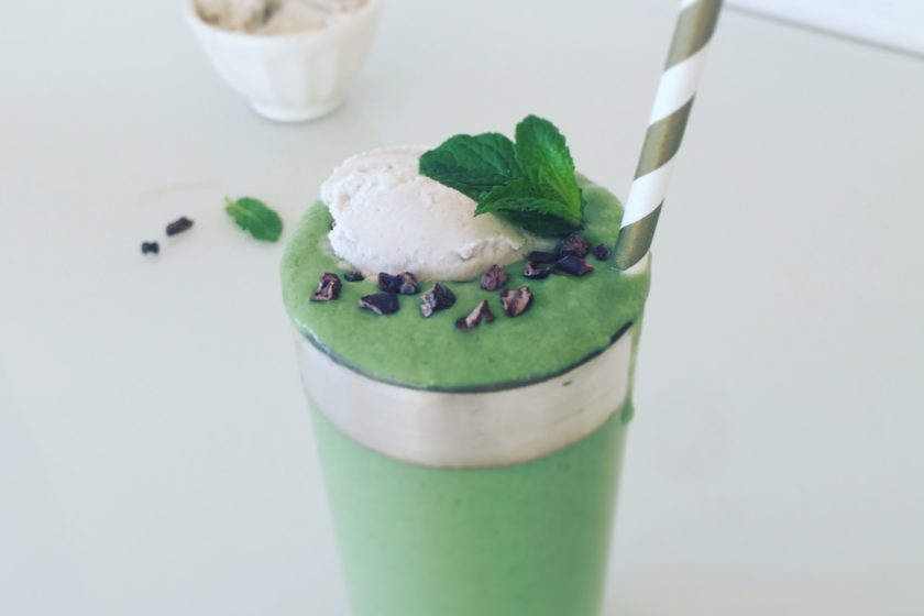 Healthy Vegan Shamrock Shake