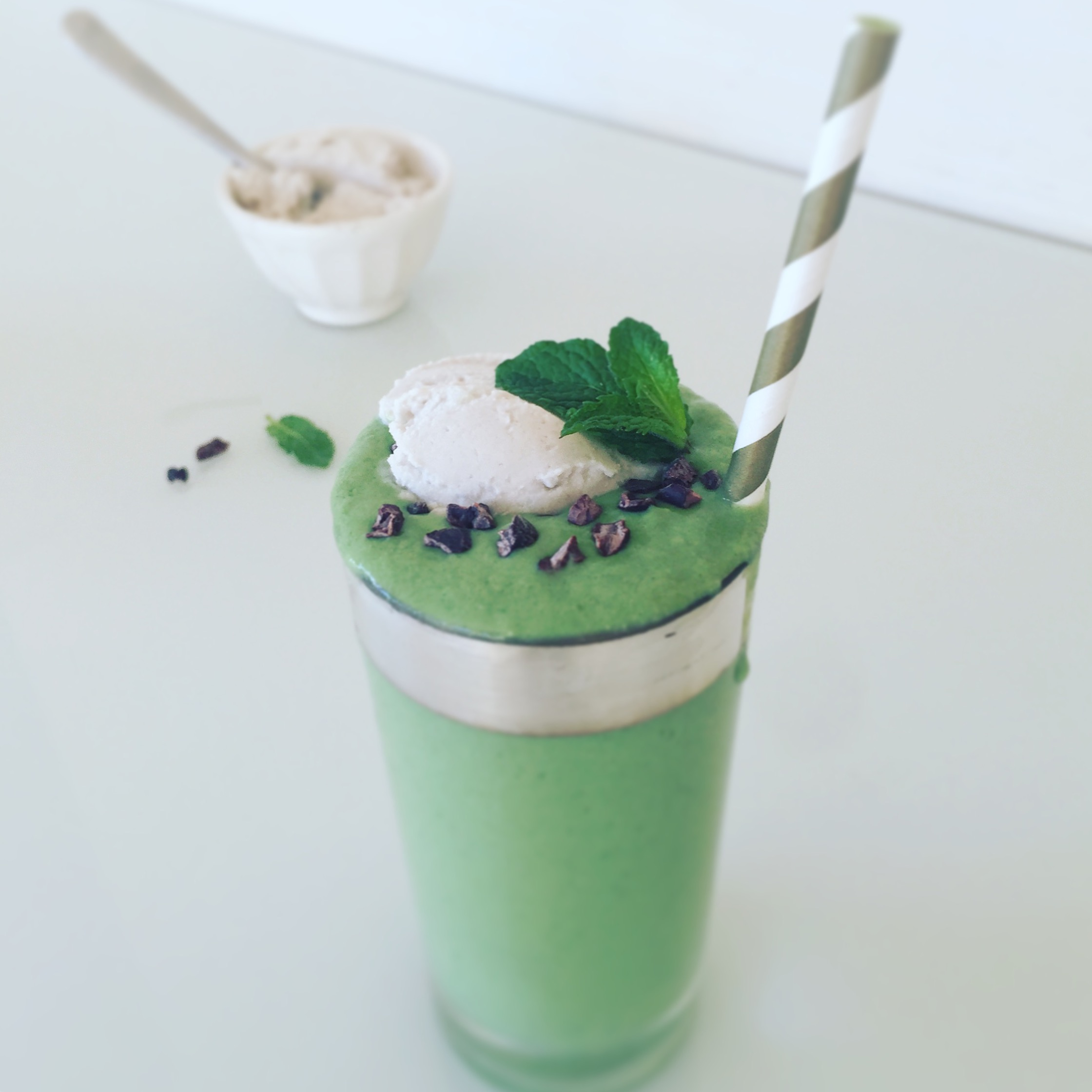 Healthy Vegan Shamrock Shake