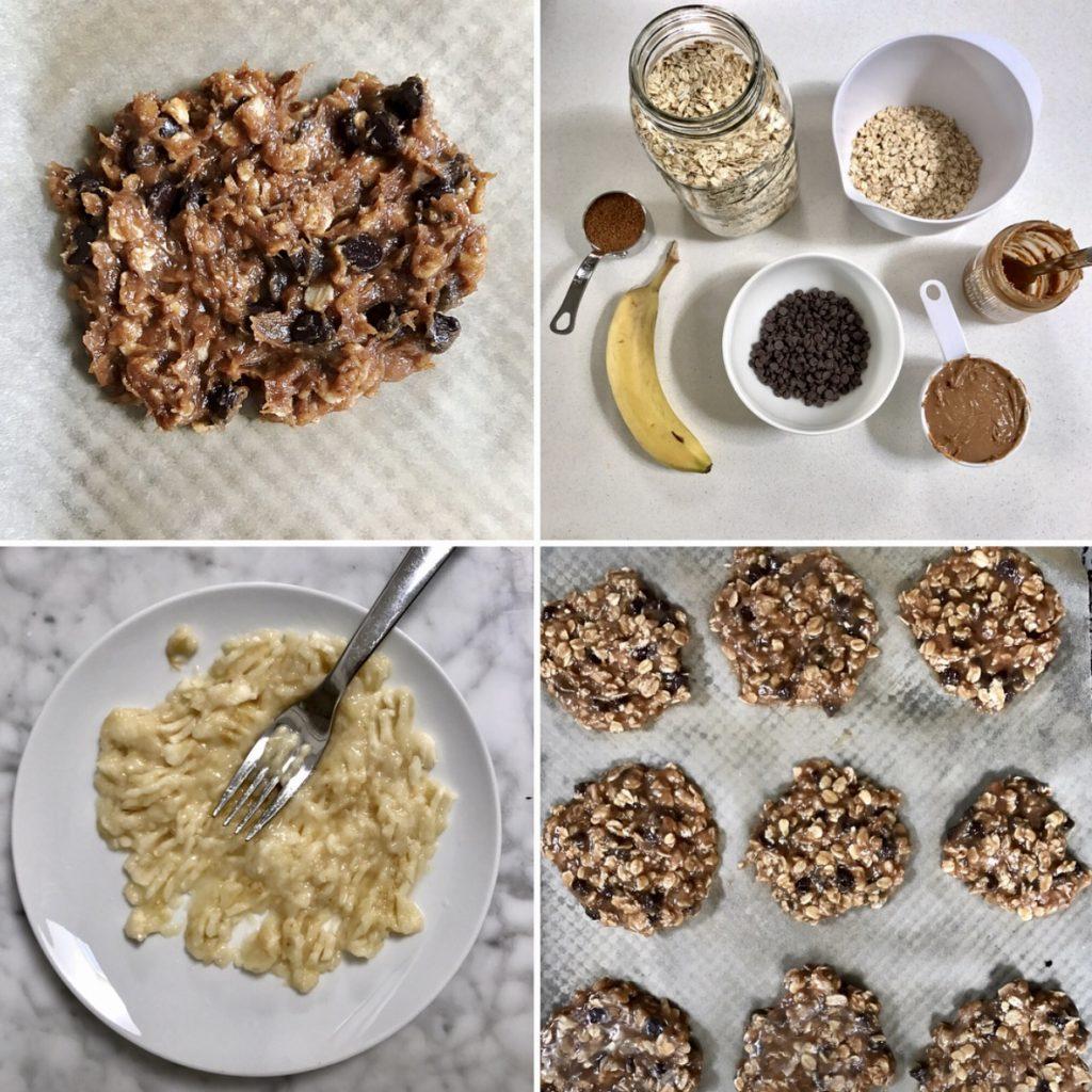 Healthy vegan chocolate chip cookie